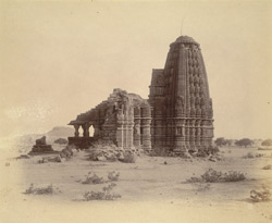 General view from the south of the Manikeshvara Temple, Jhodga